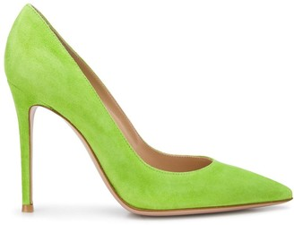 Gianvito Rossi Textured Pointed Toe Pumps