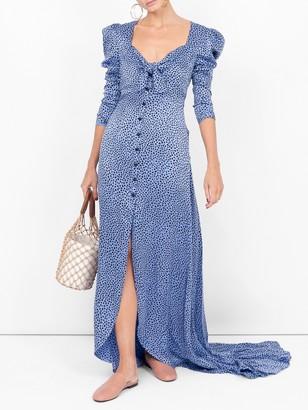 Rebecca De Ravenel Tie Front Gown Blue
