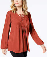 Style&Co. Style & Co Criss-Cross Top, Created for Macy's