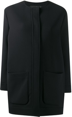 Gianluca Capannolo collarless mid-length coat