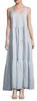 Lisa Marie Fernandez Linen Three Tier Maxi Dress