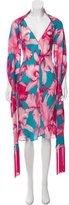 Celine Floral Print Silk Dress