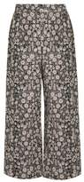 Rebecca Taylor Liane high-rise wide-leg floral-jacquard trousers
