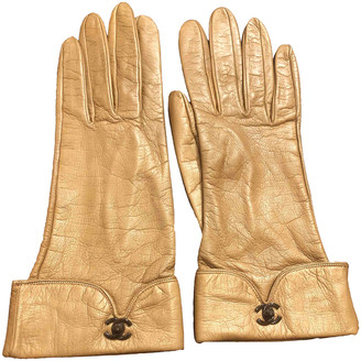 Chanel Camel Leather Gloves