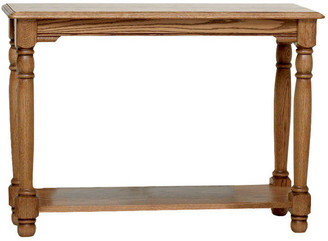 The Oak Furniture Shop Country Trend Solid Oak Sofa Table, Natural