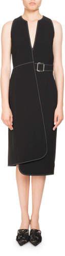 Altuzarra Alvina Sleeveless Asymmetric Wrap Dress