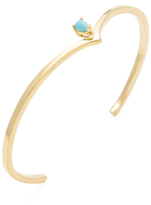 Jennifer Zeuner Jewelry Rosalie Turquoise Open Bangle