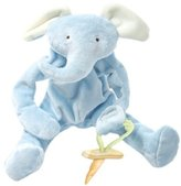 Bunnies by the Bay Peanut Silly Buddy Plush Toy, Blue Elephant with Pacifier Holder by