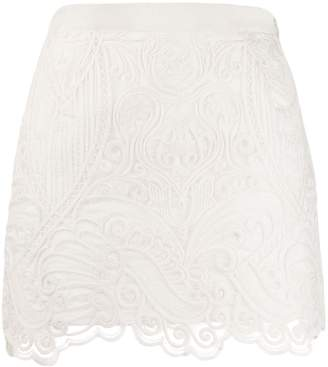 Wandering embroidered short skirt
