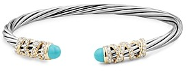 David Yurman Helena End Station Bracelet with Turquoise, Diamonds and 18K Gold