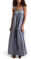 Current/Elliott Women's The Rancher Chambray Maxi Dress