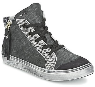 Ikks DORA girls's Shoes (High-top Trainers) in Grey