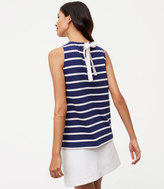 LOFT Striped Tie Back Shell