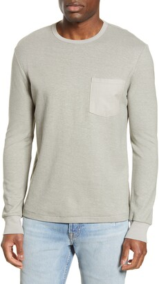 Frame Slim Fit Cotton Blend Long Sleeve Crewneck T-Shirt