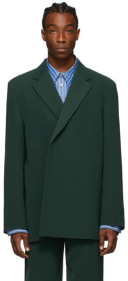 Balenciaga Green Shifted Blazer