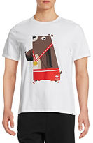 Canadian Olympic Team Collection Men's Bear T-shirt Designed by DSQUARED2