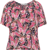 Studio Plus Size Short sleeve paisley top