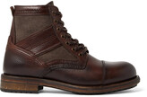 Thumbnail for your product : Belstaff Trent Canvas And Full-Grain Leather Boots