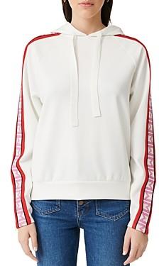 Maje Terrasse Neoprene Hooded Sweatshirt
