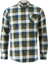 Brave Soul Men's Persuader Long Sleeve Check Shirt - Khaki