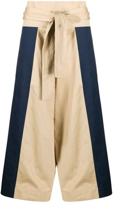 Marni Panelled Wide-Leg Trousers