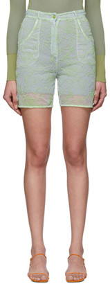 Jacquemus Blue and Green Le Short Lavandou Shorts