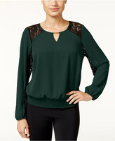 Thalia Sodi Lace-Trim Hardware Top, Only at Macy's