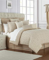 waterford charlize reversible 3pc gold california king comforter set bedding