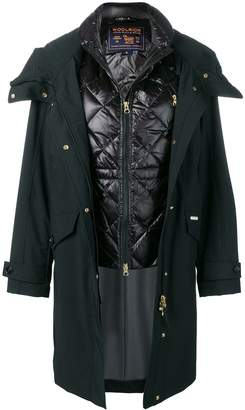 Woolrich hooded coat with quilted gilet