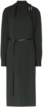 Bottega Veneta Belted Shift Midi Dress
