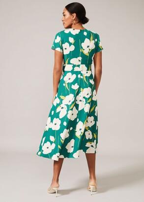 Phase Eight Lou-Poppy Frill Midi Dress