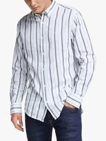 Gant Regular Fit Structured Stripe Shirt, Blue