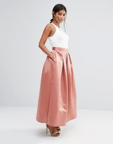 Closet London Closet Sateen Maxi Skirt