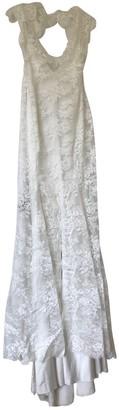 Monique Lhuillier White Lace Dress for Women