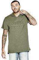 GUESS Men's Loire Hooded Logo Tee