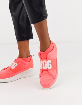 UGG Neutra logo sneakers in neon coral