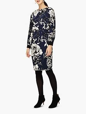 Phase Eight Romy Floral Print Dress, Navy/Multi