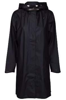 Ilse Jacobsen Dark Indigo Rain 71 A Line Raincoat - 38