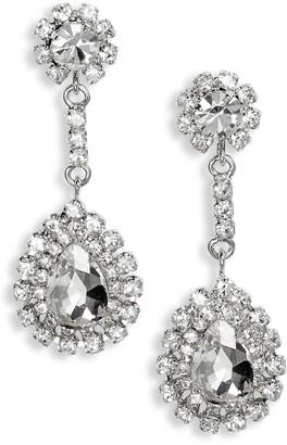 CRISTABELLE Large Crystal Teardrop Earrings