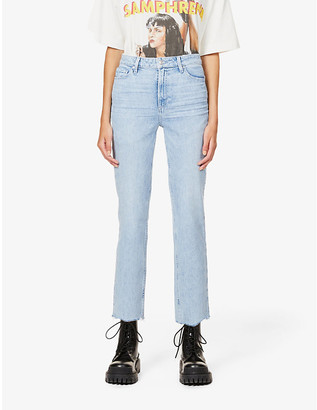 Paige Sarah Straight Ankle high-rise stretch-denim jeans