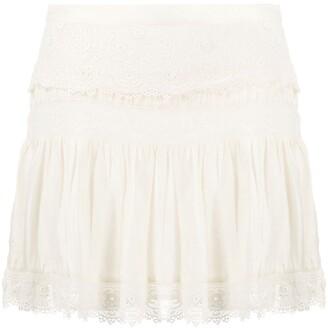 LoveShackFancy Mini Lace Skirt