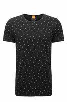 HUGO BOSS Thoughts Printed Slub Jersey T-Shirt M Black