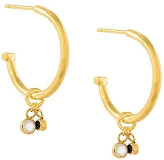 Maya Magal Hanging Charm Hoop Earrings