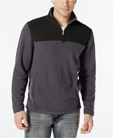 Club Room Big and Tall Quarter-Zip Fleece Pullover, Only at Macy's