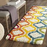 "Safavieh Kids Shag Collection SGK561A Ivory and Multi Area Rug, 2 feet 3 inches by 5 feet (2'3"" x 5')"