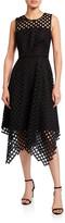 Milly Annemarie Lattice Embroidered Handkerchief Dress