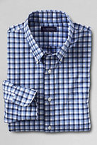 Lands' End Men's Traditional Fit No Iron Twill Shirt-Blue Twilight Multi Check