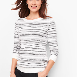 Talbots Mixed Yarn Stripe Sweater