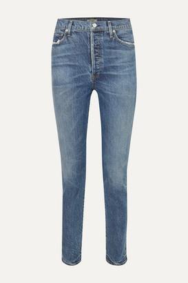 Citizens of Humanity Olivia High-rise Slim-leg Jeans - Mid denim
