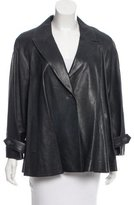 Chanel Leather Single-Button Jacket